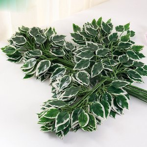 الفروع 12p جيم الاصطناعي بانيان تري مغادره محاكاة الخضراء النباتات والزهور تسوق مول زهرة الديكور