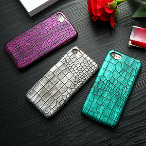 Retro Crocodile Snake Leather Phone Case For iPhone 8 7 6 6s Plus PC Hard Protective Back Cover Couque For iphone 7