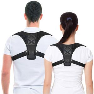Volver hombro Postura de corrección ajustable Deportes Adultos seguridad ayuda trasera del corsé de la columna vertebral de correa de soporte corrector de la postura