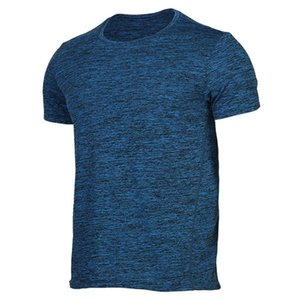 Sports VANSYDICAL Mens Outdoor T-shirts Verão Spandex respirável manga curta em torno do pescoço T-shirt Running sem mangas Vest