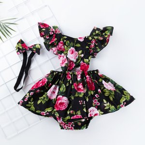 Newborn For Girl With Floral Designer Enfant Headband Kids Romper Ruffles Girls Girls Dresses Baby Clothes Clothes Sleeve Valentines Da Oppl