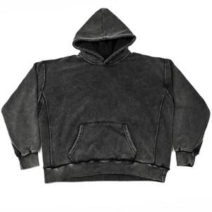 Lavado-Garment DONGGUAN_SS Hip Hop apenada sudaderas de gran tamaño Fleece camiseta caliente
