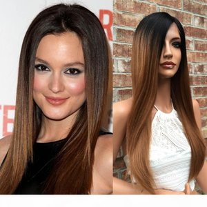 Ombre dark roots two tone human hair full lace wig #1b 33 ombre color human hair wigs for African american
