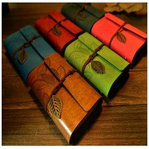 9 цветов дневники 9 кожаных листьев садовые путешествия крафт бумаги журнал ноутбук Chilren блокноты ретро классические книги украшения M1897