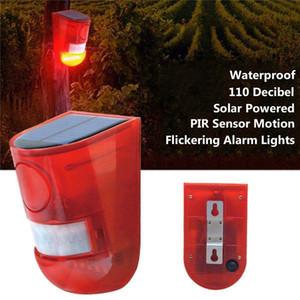 LED 방수 솔라 스트로브 경고 빛 사운드 알람 램프 센서 정원 램프 보안 라이트 알람 램프 공장 창고 농장