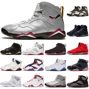 Nike Air Jordan Retro 7  Zapatillas de baloncesto de calidad superior 7 para mujer para hombre 7s Lujo Raptro Charcoal Fadeaway Barcelona Nights Brand Designer Sneakers 40-47