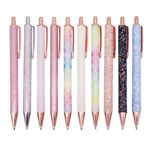 1 Pcs New Flash Crystal Pen Metal Pendant Ballpoint Pen Bullet 1.0mm Nib Blue Refill Superior Office Writing Pen