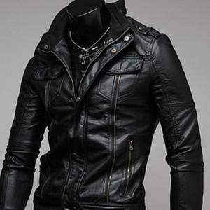 ZOGAA 2019 Горячие Продажа Джентльмены Cavalier Кожа PU куртки Урожай ретро Moto Поддельный Punk кожаные куртки мотоцикла мужские пальто