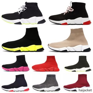 bateau 24-48h sur Chaussures Designer Speed Casual Chaussures Entraîneur Sock Triple Noir Blanc Glitter Mode plat femmes des hommes de coureur Chaussettes Sneakers 36-45
