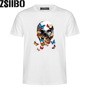 ZSIIBO Brand Men's Lastest Fashion Short Sleeve Printed T-Shirt Funny Tee Shirts Hipster O Neck Cool Tops for Men MC91