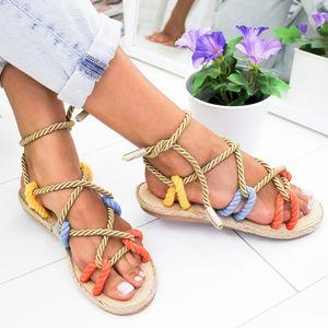PUIMENTIUA 2019 Moda Rope Sapatos Mulheres Sandálias Verão 2019 Sapatos praia novo Mulheres sandálias plataforma Slides Falhanços de aleta