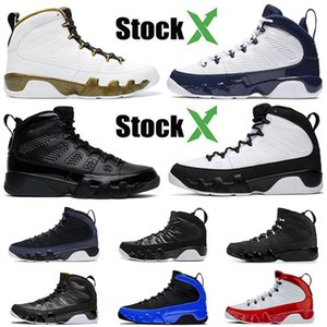 Mens Arrival 9s Basketball Shoes 9 Trainers Brand RACER BLUE bred Anthracite black white Citrus UNC White ruby Sneakers Luxury