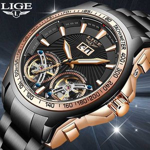 LIGE Men's watches Mens Watches top Automatic mechanical sports watch men wirstwatch Reloj hombres 2020