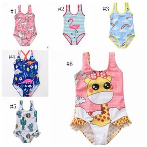 Baby Swimwears Einhorn Mädchen Bathsuit Ein Stück für Kinder Badeanzug Kinder Strand-Bikini-Sommer-Kinderkleidung Dinosaurier Flamingo YW2628