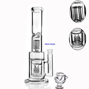 13.7 grand Maxi pipes barboteurs en verre épais bong bong eau en verre chicha recycleur dab appareils de forage accessoires bol hookash shisha