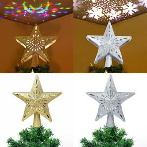 미국 3D 중공 스타 크리스마스 트리 토퍼 W / LED 눈송이 프로젝터 조명 장식