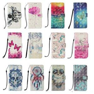 3D Owl Leather Wallet Case Unicorn Flower Dreamcatcher Butterfly Flip Cover for Samsung A6 A8 PLUS J2 J4 J6 J3 J4 J7 J8 A7 A9 2018 A2 core