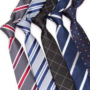 Yeni Erkekler Yüksek Kaliteli İngiltere Stil Stripes JACQUARD Erkek Moda Tie 6cm İş Düğün Bağları Erkek Elbise Kravat