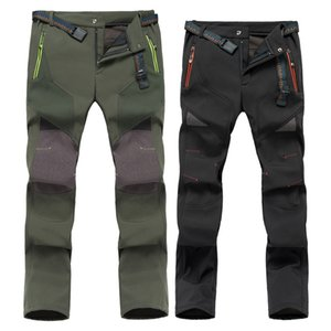Outdoor Charge Hiking Pant Men Women Winter Warm Fleece Thickened Waterproof Windproof Large-yard Climbing Trousers Pants