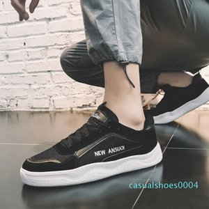 Brand Men Sneakers Fashion Casual Shoes High Quality PU+air Mesh Shoes Man Loafers Low-top Breathable Male Trainers Promotion c04