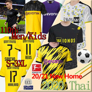 HAALAND 19 20 21 Borussia Dortmund maglia da calcio PERICOLO REUS 110 ° anniversario BVB BRANDT SANCHO GOTZE REYNA Britische fußballtrikots Thai