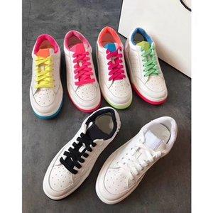 chaussures de marque haut au printemps et en été 2020 mode décalques vraies chaussures en cuir décontractée confortable semelles épaisses chaussures des femmes d'attache perméables à l'air