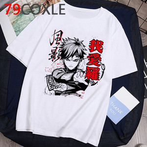 Naruto Fashion Japanese Anime T Shirt Hombres Sasuke Funny Dibujos animados Camiseta Casual Cool Streetwear Tshirt Pareja Hip Hop Top TEE77