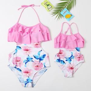 New Swimsuit 2020 manga comprida maiô para meninas Fatos de banho separados Crianças Rash Guard Childrens exterior Red Swimwear 3-8T