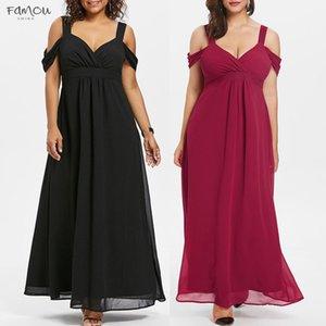 Plus Size Womens Elegant Evening Party Cold Shoulder High Waist Maxi Dress Sweetheart Neck Long Dress Large Size 5Xl Chiffon Vestido G5