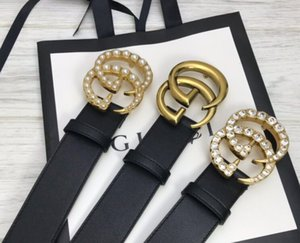Hot Fashion brand men Gg buckle fashion genuine leather design V belts for men Letter Double H buckle men women belts White box