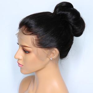 360 Lace Front Perücken Natürliche Farbe Gerade Baby-Haar Pre Zupforchester Hairline 360 Lace Frontal Perücken brasilianischen indischen peruanischen Haar NYC Salon