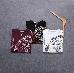 Nueva moda Diseñador de Tide Ropa para hombre Verano Diseñador de hombre Camisetas Casual diseñador de Streetwear Camiseta Remache Mezcla de algodón de manga corta # 825