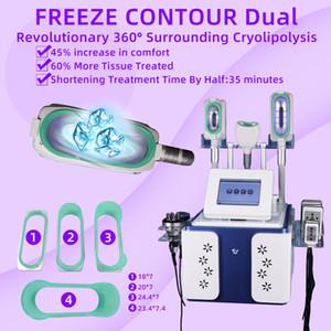 5 in 1 Kryotherapie-Fett-Frost, der Maschine Cryolipolysis-Fett einfriert Rf-anhebende Laser-Fettabsaugungs-Maschinen mit drei 360 ° Kryo-Griffen abnimmt
