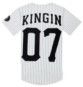 Si el hombre Tun 07 últimos reyes de béisbol camiseta Tyga jerseys Negro Blanco Hombres Mujeres Unsex el estilo de Hip Hop Rap tes de las tapas de las camisetas de tendencia