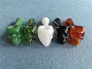 IN STOCK ! 5.0 inch Skull Tobacco Glass pipe Spoon Smoking Pipes 6 Colour Pyrex Glass Oil Burner Pipe Hand Pipes 70g Weight