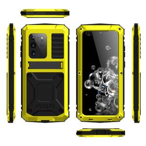 스탠드 S20 플러스 삼성 S20 울트라 충격 방지 방수 먼지 방지 전체 커버를위한 헤비 듀티 보호 전화 케이스