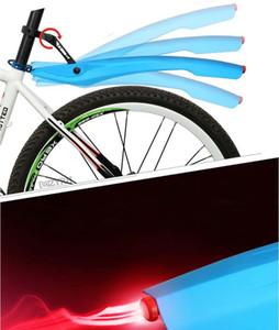 MZYRH 26 дюймов велосипед крыло 1 пара комплект с LED задний фонарь гибкий велосипед брызговик съемный Бесплатная доставка