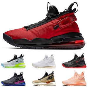 JORDAN PROTO-MAX 720 jumpman para homens Gym Red Neon Gradiente Pure Platinum roxo e Royal Gold e tênis preto tamanho 40-46