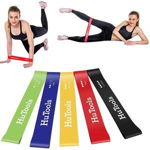 5pcs / pack YOGA EXERCICE BANDES DE TENSION DE TENSION DE TENSION Caoutchouc Stretch Stretch Fitness Fitness