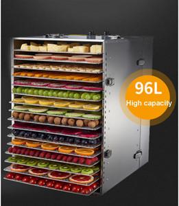 2020 Simples venda quente Melhores vendas Comercial frutos secos desidratador de alimentos de aço de 16 camadas inoxidável desidratador Dried Fruit Machine