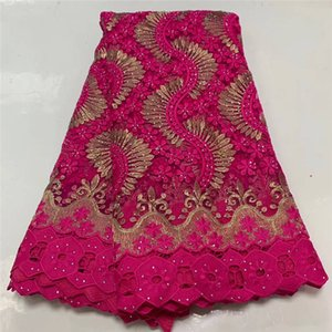 nigerian rose red lace fabrics for wedding african tulle lace with stoneslatest design french lace fabric for party dress