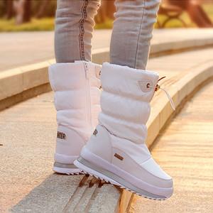 2018 Plataforma de Inverno Meninas Botas de Borracha Crianças Anti-slip Botas de Neve Sapatos Para A Menina Grande Crianças À Prova D 'Água Sapatos de Inverno Quente Botas Y190525
