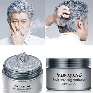 MOFAJANG Cabelo Wax 120G prata avó Grey temporária cabelo Pomada 7 Cores descartável Moda cabelo argila Coloração Creme lama