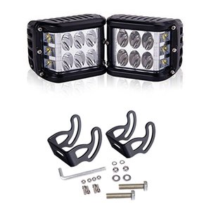 45W LED Three-side Luminous Working Lamp Work Cube Side Shooter LED Light Bar Flood Driving Fog 2pcs set