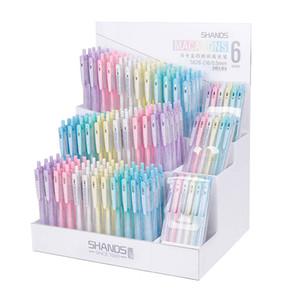 Оптовая Ретро Gel Pen Set 6 цветов 0.5мм Гладкая авторучку Coloful Дать Supplies Мода Стационарный