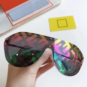 Novos óculos de sol dos homens e das mulheres sem aro óculos de sol forma fundo grande tendência