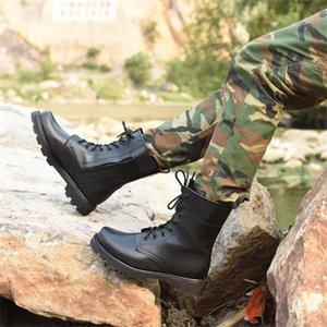 Caliente del dedo del pie Venta-Hombres de acero de invierno Botas de seguridad de cuero genuino de lana militar rusa Botas estilo más calientes Natural hombres de nieve botas de moto de arranque
