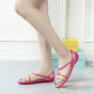 Women Sandals Summer New EVA Casual Mixed Candy Colors Soft Slip on Beach Jelly Shoes Woman Flat Sandals