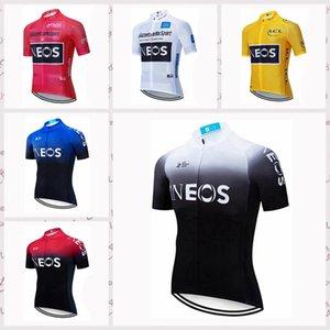 INEOS команда мужчин Велоспорт мужчин Короткие рукава Джерси дышащий Quick Dry Горный велосипед одежды велосипеда спортивный износ A6903