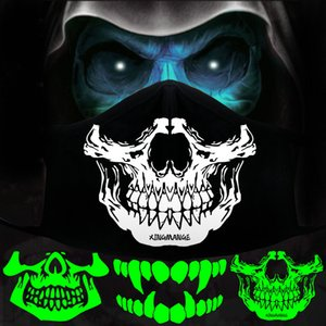 sq2009 Glow Masks Uv Hooded Fang Face Mask Uv Hooded Fang Face Mask Uv Hooded Festival Fashion Fashionmia Sale Best Inexpensive